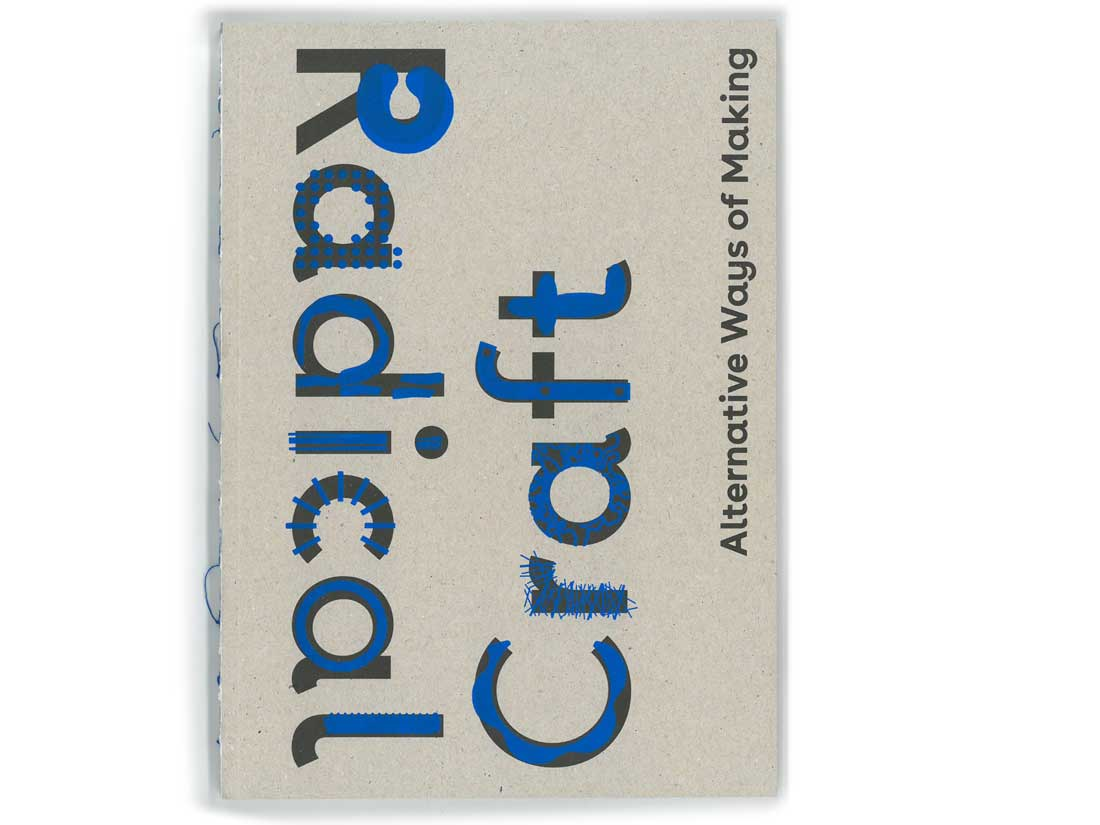 A photograph of the Radical Craft catalogue.