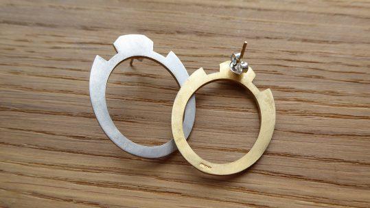 Shelanu Catch Earrings Part Gold