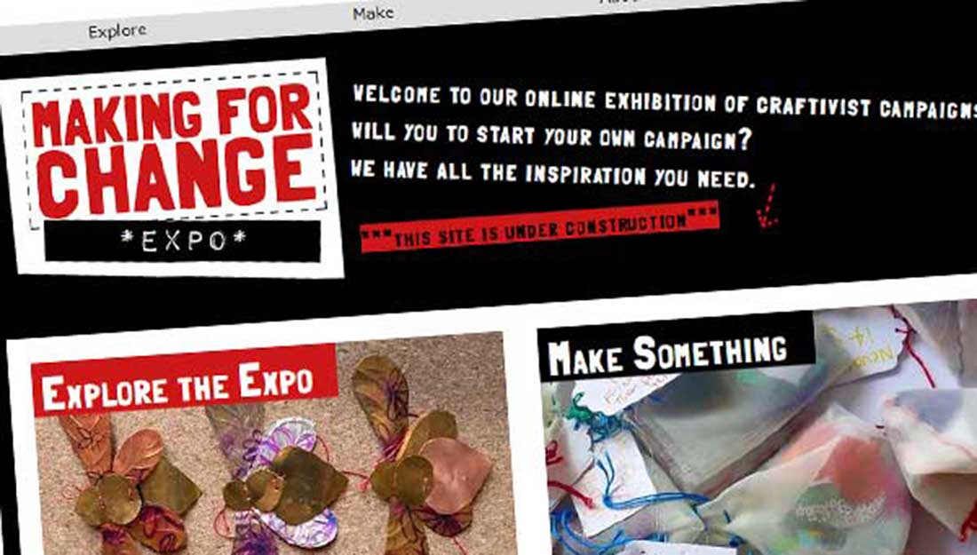 A screengrab of the Making For Change home page.